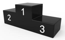 Podium for winner. Black Isolated podium for winner Royalty Free Stock Image