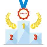 Podium winner medal icon Royalty Free Stock Photos