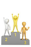 Podium for the winners. 3d image. On a white background Stock Photos