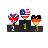 Podium With Heart Stock Photography