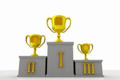 Podiume de gagnants Photo stock