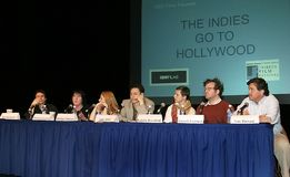 Podiumsdiskussion am 2. Tribeca-Film-Festival Lizenzfreies Stockbild