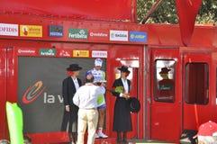 Podiumstufe 6 des Ausflugs von Spanien 2011 Stockfotografie
