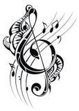 podkład muzyczny głos noty Zdjęcia Stock
