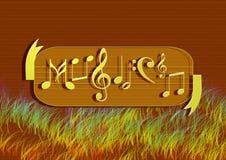 podkład muzyczny notatka Obrazy Royalty Free