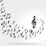 podkład muzyczny notatki Obrazy Royalty Free