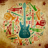 podkład muzyczny rocznik Obraz Royalty Free