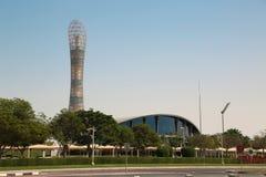 Podkłada ogień wierza, Aspiruje strefę, Doha, Katar zdjęcie royalty free