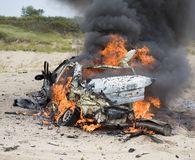 Podkładający ogień samochód Obrazy Stock