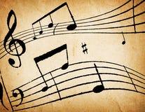 podkład muzyczny notatki Zdjęcia Royalty Free