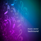 podkład muzyczny notatki Zdjęcie Stock