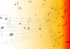 podkład muzyczny uwagi Zdjęcie Stock