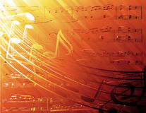 podkład muzyczny uwagi Obraz Stock
