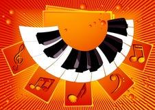 podkładu muzycznego pianino ilustracja wektor