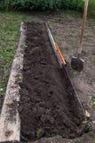Podkopowa praca na gospodarstwie rolnym Zdjęcia Royalty Free