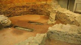 Podkopowy miejsce stara ugoda w muzeum, antyczna cywilizacja, architektura zdjęcie wideo