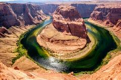 Podkowa chył na Kolorado rzece fotografia royalty free