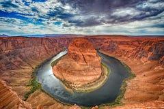 Podkowa chyłu Colorado widoku 360 rzeczna panorama obrazy royalty free