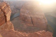 Podkowa chyłu Kolorado rzeka, Arizona obraz royalty free