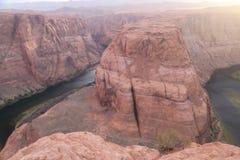 Podkowa chy?u Kolorado rzeka, Arizona zdjęcia royalty free