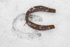 podkowa śnieg Obrazy Stock