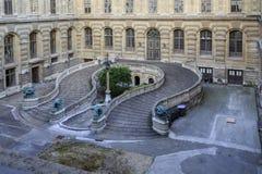 Podkowa schody przy louvre Zdjęcie Royalty Free