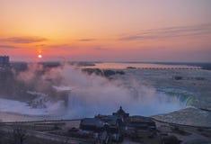Podkowa spadek, Niagara spadki, Ontario, Kanada obrazy royalty free
