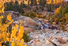 Podkowa spadki; Skalistej góry park narodowy fotografia stock