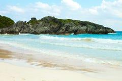 Podkowy zatoki plaża w Bermuda obrazy royalty free