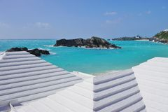 Podkowy zatoki plaża w Bermuda Fotografia Stock
