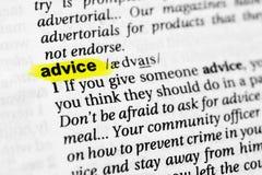 Podkreślać angielszczyzny formułują ` rada ` i swój definicję w słowniku obraz royalty free