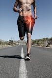 Podkreślająca modna kość bieg mężczyzna Zdjęcia Royalty Free