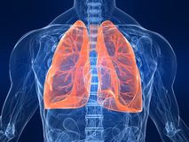 podkreślający płuco Zdjęcia Stock