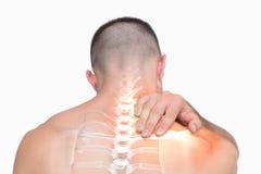 Podkreślający ramię ból mężczyzna Zdjęcie Royalty Free