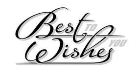 Podkreślenie ręcznie pisany tekst &-x22; Najlepsze Życzenia you&-x22; z cieniem Ręka rysujący kaligrafii literowanie z kopii prze ilustracji