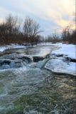 Podkumok河 33c 1月横向俄国温度ural冬天 图库摄影
