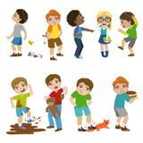 Podli dzieci Ilustracyjni Zdjęcie Stock