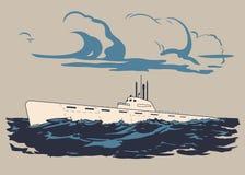 Podlodka 1 2 vector illustration