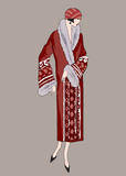 Podlotek dziewczyny (20s styl): Mody retro przyjęcie Zdjęcie Stock