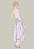 Podlotek dziewczyny (20s styl): Mody retro przyjęcie Obrazy Royalty Free