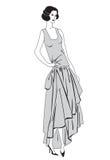 Podlotek dziewczyny (20s styl): Mody retro przyjęcie Obrazy Stock