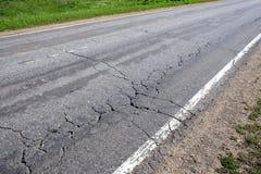 Podmiejska droga w złym stanie Zdjęcia Stock