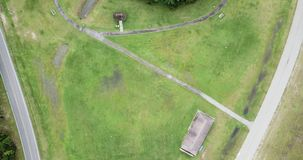 Podmiejski amerykanina krajobrazu widok z lotu ptaka zbiory wideo