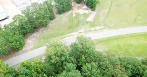 Podmiejski amerykanina krajobrazu widok z lotu ptaka zdjęcie wideo