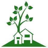 Podmiejski Domowy logo Zdjęcia Stock