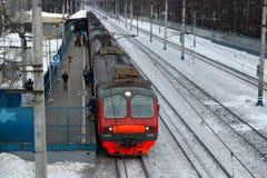 Podmiejski elektryczny pociąg Obraz Royalty Free