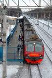 Podmiejski elektryczny pociąg Obrazy Royalty Free