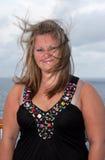 podmuchowi włosy wiatru kobiety potomstwa zdjęcie stock
