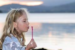 podmuchowy bąbli dziecka morze Zdjęcia Royalty Free