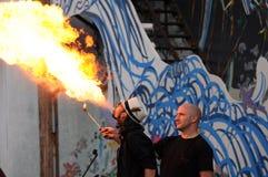 Podmuchowy ogień obrazy royalty free